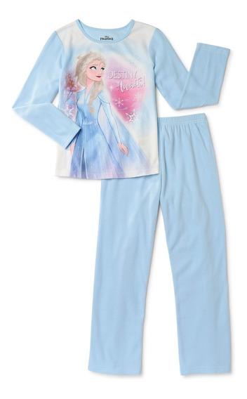 Pijama Niña Set De 2 Piezas Disney Frozen 2 Franela Afelpada