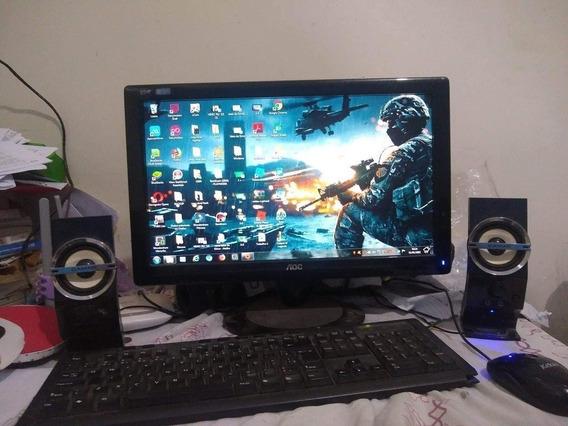 Pc Completo Com Monitor, Teclado, Mouse E Caixas De Som