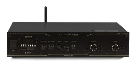 Amplificador Slim 5000 App Usb,sd, Fm, Blu, Mic 12x S\juros