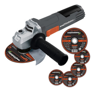 Amoladora Angular 115mm 800w 4 1/2 Gladiator Aa615 +5 Discos