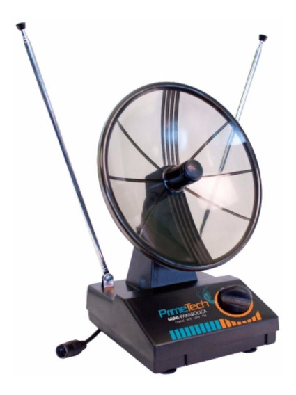 Antena Interna Tv Mini Parabólica Vhf Uhf Fm