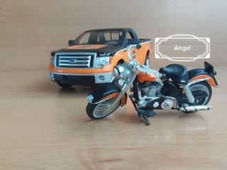 Ford F-150 Maisto Edicion Harley Davidson Con Moto