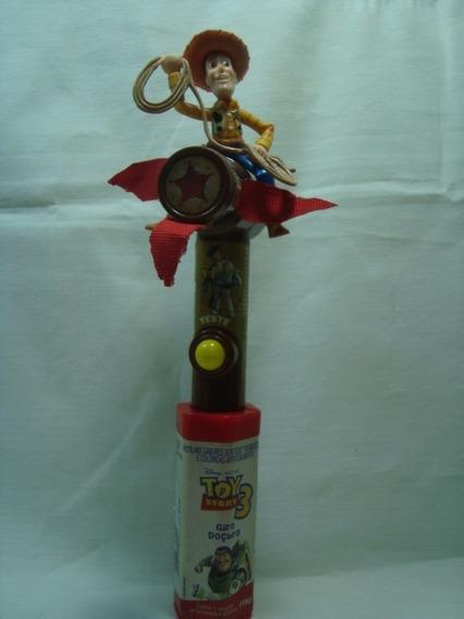 Boneco De Ação Xerife Woody Toy Story Dispenser E Ventilador