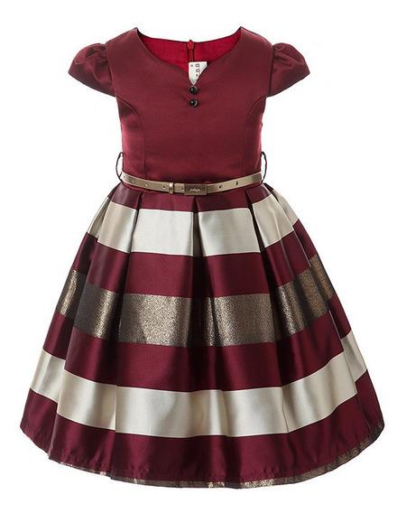 Vestido Niña Elegante Fiesta Calidad Premium Importado Cinto