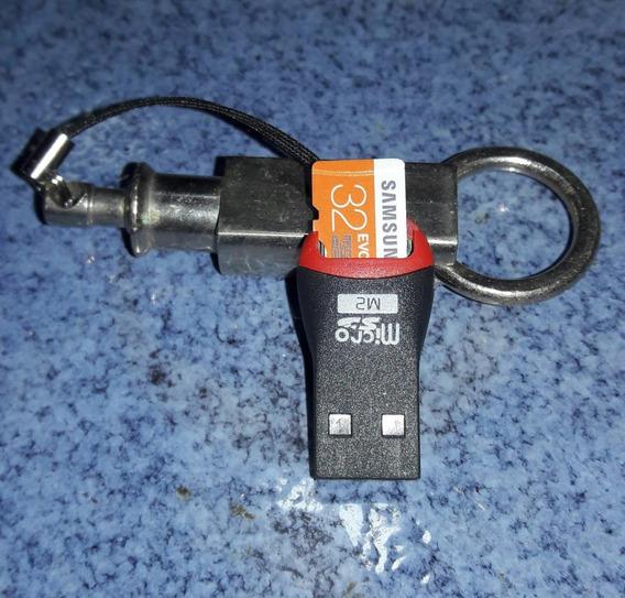 Pendrive De 32gb - (cartão E Leitor Tipo Pendrive)
