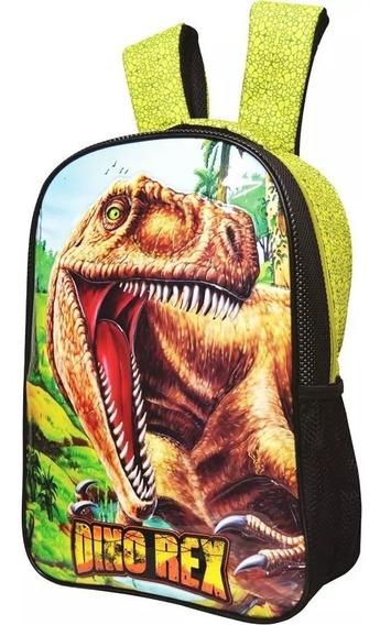 Mochila Infantil Dinossauro Dino Rex Verde - Pronta Entrega