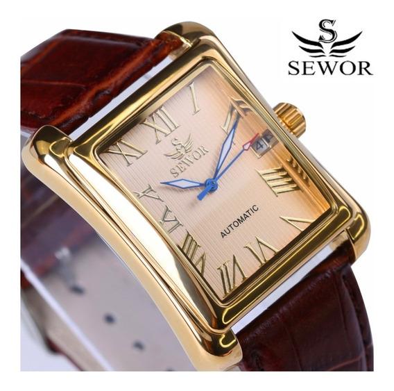 Relógio Marca Sewor Modelo Sw065 Clássico/casual Automático