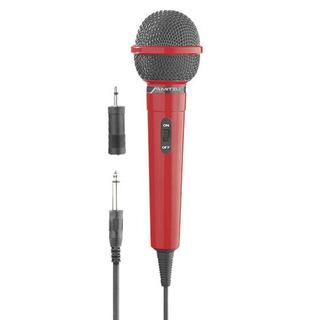 Micrófono Alámbrico Unidireccional Adaptador 12-1005 Rojo