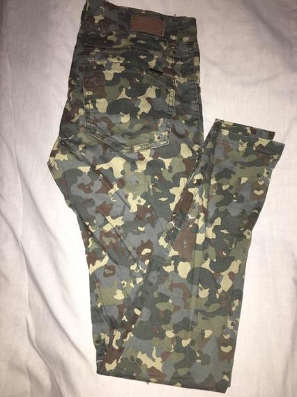Jeans Camuflado Chupin Materia Talle 25