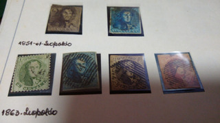 652 Selos Da Bélgica Antigos: De 1849 A 1971 Coleção Filatel