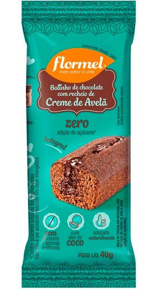 Bolinho De Chocolate Integral Recheado Zero Açúcar Flormel