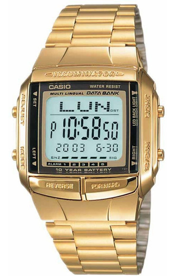 Relógio Casio Original Data Bank Db-360g-9adf Nota Fiscal
