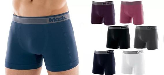 5 Cuecas Mash Boxer 710.01 Microfibra Sem Costura P/gg