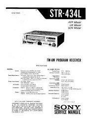 Sony Str-434 - Esquema - Partes - Procedimentos - Marantz