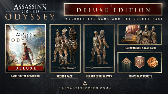 Assassins Creed Odyssey Deluxe Edition Ps4 Original