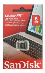 Pen Drive 8gb Sandisk Mini Micro Cruzer Nano Z33 Lacrado