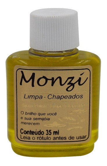 Limpa Chapeados Folheados Banhados Bijuterias Monzi 35ml