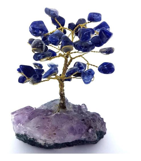 Árvore Bonsai De Cristais De Sodalita