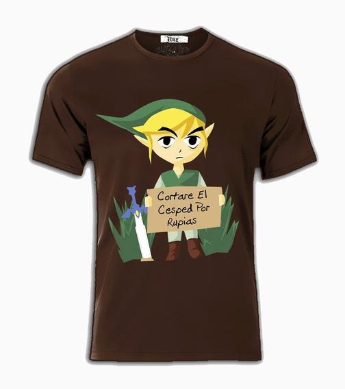 Playeras Camiseta Zelda Link Limosnero Cortare El Cesped Por Rubias Ocarina Majoras Unisex