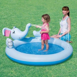 Pileta Inflable Bestway Elefante Lanza Agua Bebe Cod 53034 !