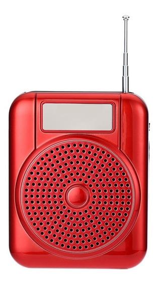 Rádio Receptor Portátil Longruner L-68 Fm Amplificador Voz