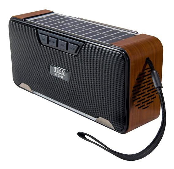 Caixa De Som Bluetooth Painel Solar Rádio Fm Cartão Micro Sd