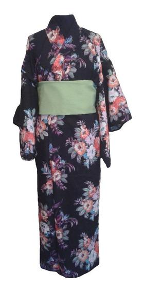 Kimono Yukata Japonés Mujer Hombre Japón Talle Xl Envios