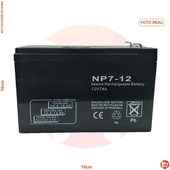 Bateria Recargable 12v 7ah Para Cercos Ups Y Centrales Incen