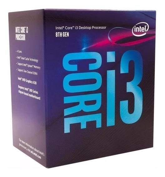 Processador Lga 1151 Intel I3 8100 8 Ger Coffeelake 3.6ghz