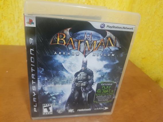 Batman Arkham Asylum Usado Ps3 Mídia Física .