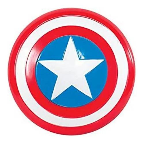 Escudo Capitan America Plastico Grande 45cm Doble Agarre