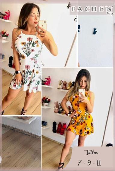 Vestido Flores Mostaza 01