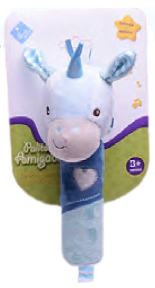 Sonajero Palito Amigable Unicornio Duende Azul Fibro 6770