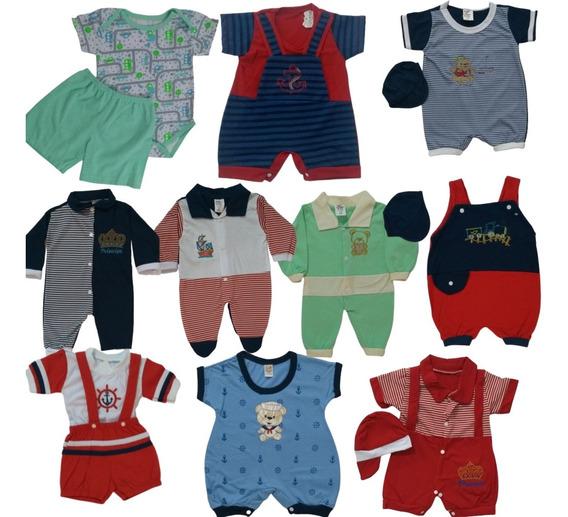 Roupas De Bebês Masculino Lote Com 10 Macacão Menino
