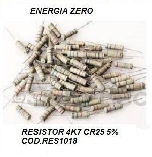 Resistor 4k7 Cr25 5% Pac 10 Unid Cod.res4807 Frete Cr