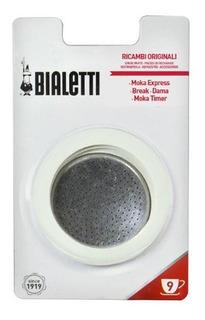 Repuesto Bialetti 3 Juntas + 1 Filtro Cafetera 9 Tazas