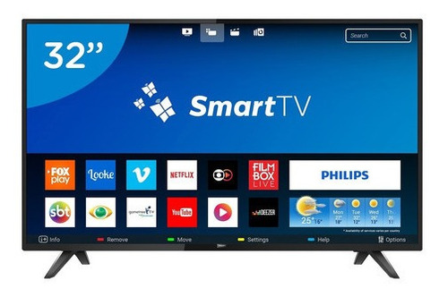 Imagen 1 de 3 de Smart Tv 32  Hd Philips 32phg5813/77