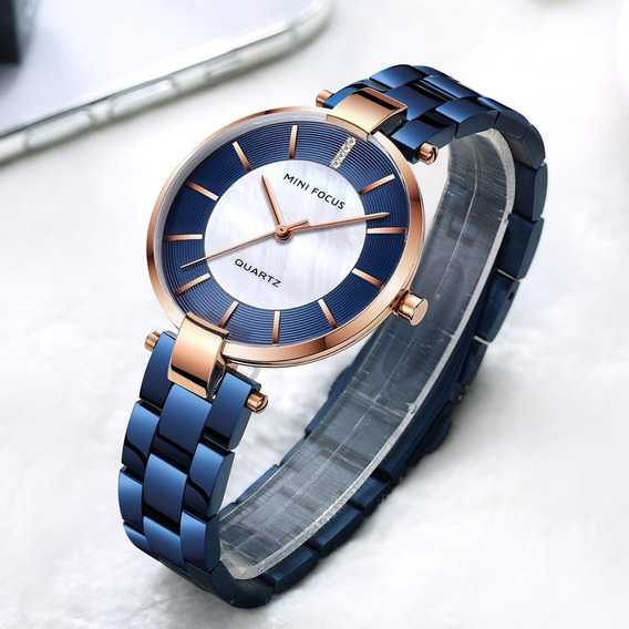 Relógio Feminino Minifocus Luxo Moda Moderna Original C/cx