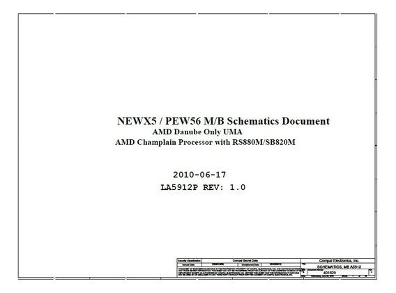 Esquema Elétrico Compal La-5912p Rev. 1.0