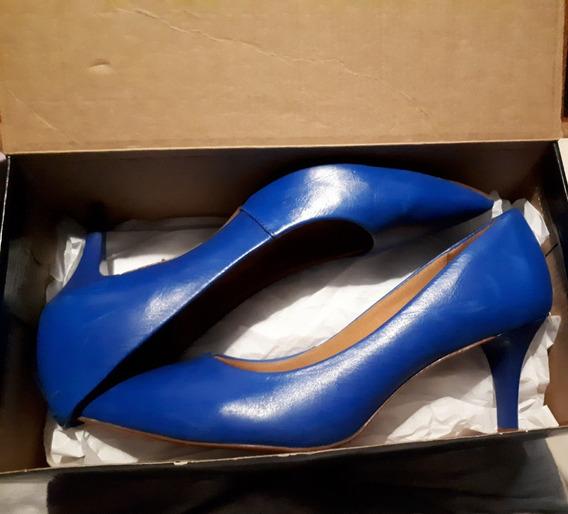 Zapatos Azules Via Uno 38