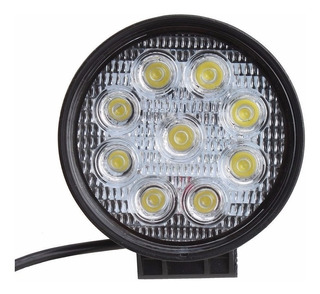 Faro Led 27w Redondo Waterproof Exploradoras Cree