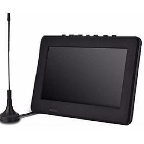 Tv Portátil Led Monitor Tv Digital 9 Polegad Micro Sd/antena