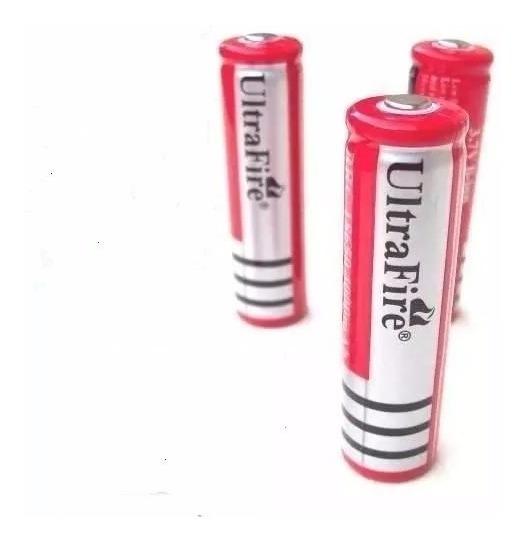 6 Baterias Ultrafire 18650 5800mah 3,7v Li-íon + Carregador