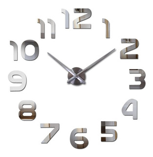 Reloj Gigante 3d De Pared Diy Wall Deluxe 100cm