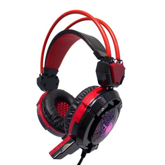 Headfone Fone Gamer Com Microfone Luz Led Lançamento