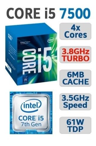 Processador Intel I5 7500 Completo + Pasta Térmica