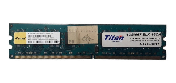 Memoria Ddr2 Titan 1gb Pc2-5300 667mhz 16 Chips 9