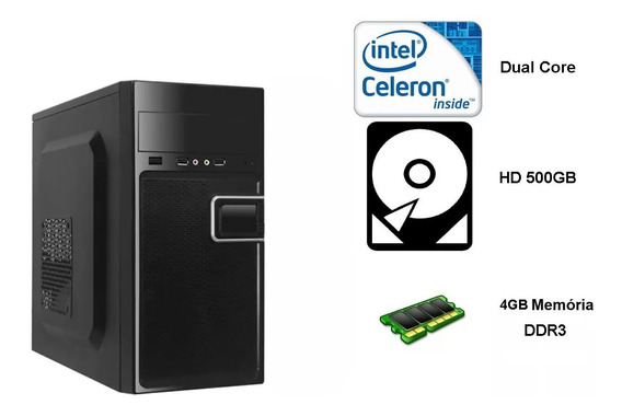 Pc Intel Dual Core J3060 1.6ghz 4gb 500gb