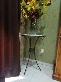 Mesa Esquina De Acero Y Cristal