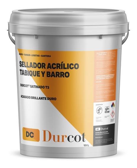 Sellador Satinado Para Ladrillo Tabique Barro 180m2 - Durcot